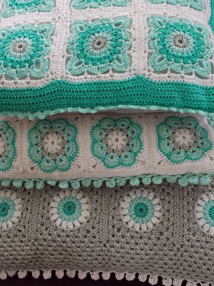 Not big on granny cushions, but I do love the color pallette here.