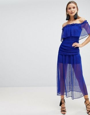 62c3208746 The Jetset Diaries Mesh Ruched Maxi Dress in 2019