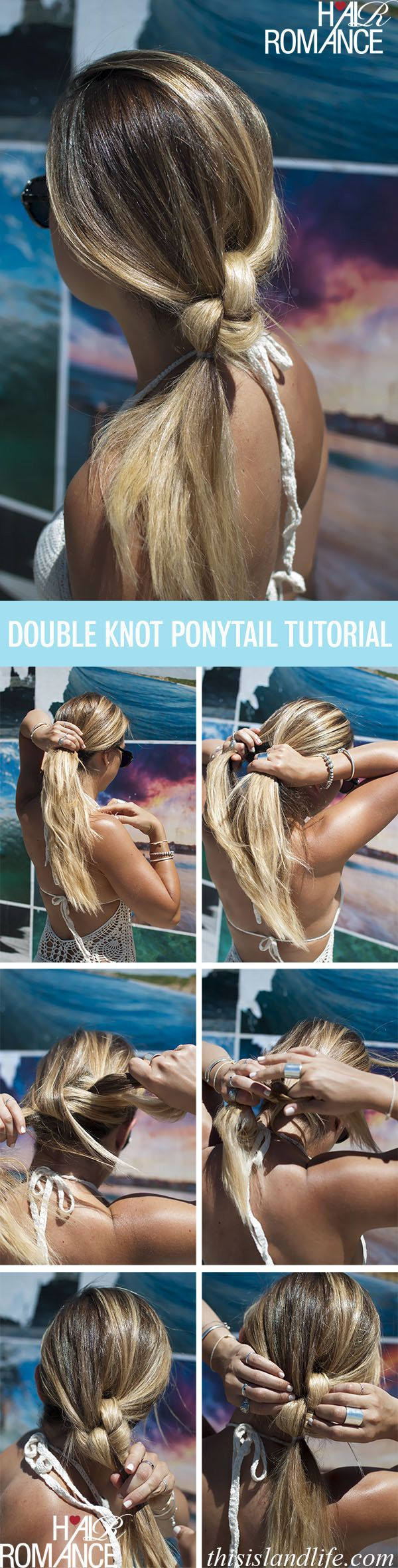 Double Knot Ponitail Hairstyle Tutorial