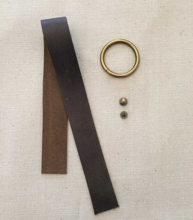 Leather O Ring Bracelet Supplies