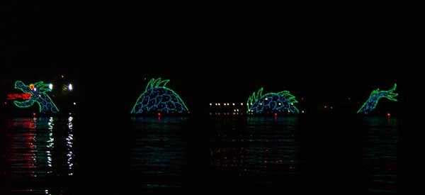 The Electrical Water Pageant - seen from the Lagoon around the Magic Kingdom resorts