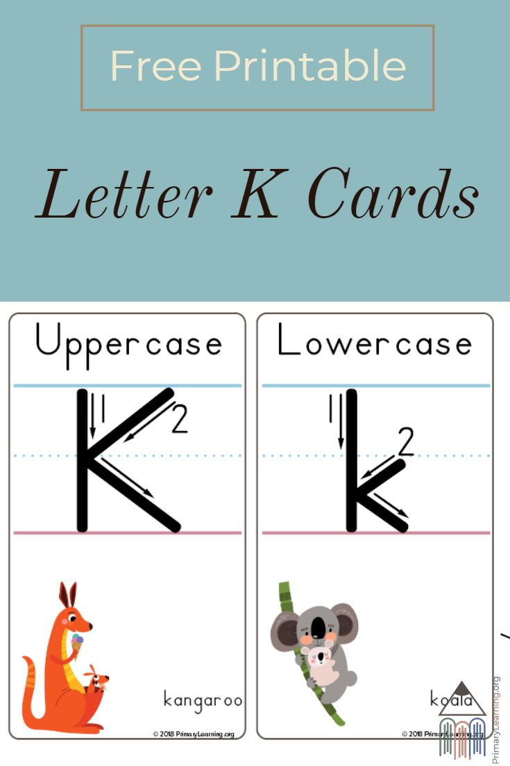 Alphabet Letter K Cards Primarylearning Org Lettering Alphabet Free Homeschool Resources Kids Writing