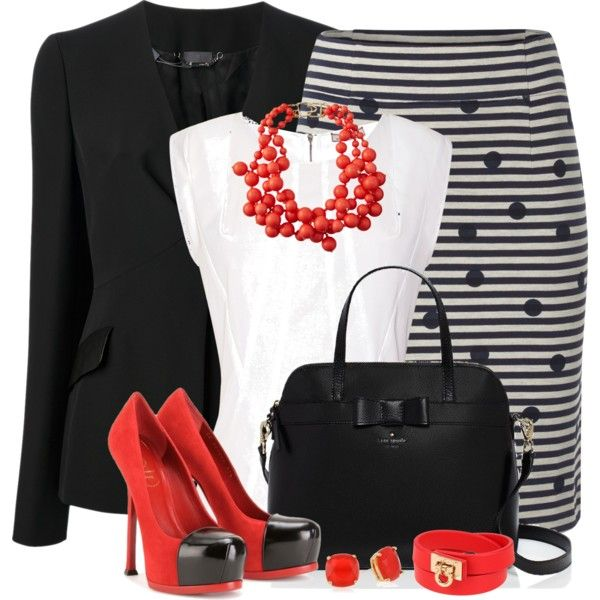 A fashion look from March 2014 featuring Nina Ricci blouses, Fendi blazers and White Stuff skirts. Browse and shop related looks.