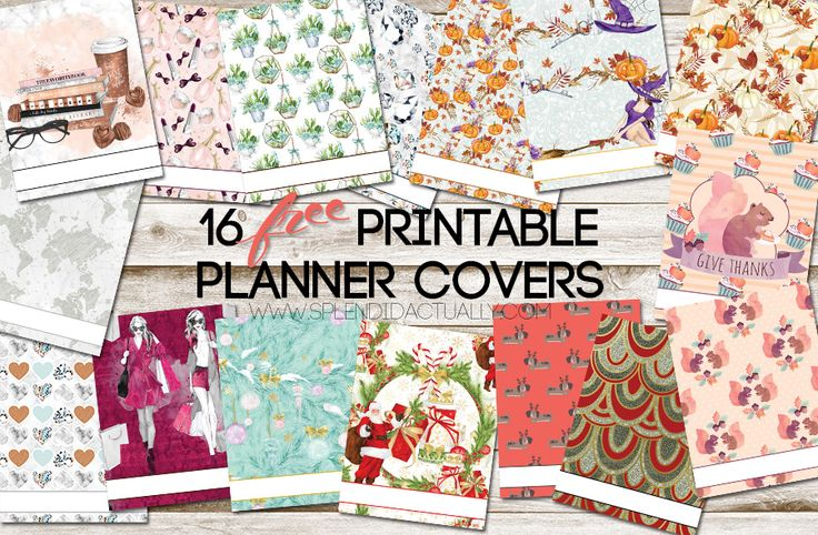 planner covers - 15 FREE printables!