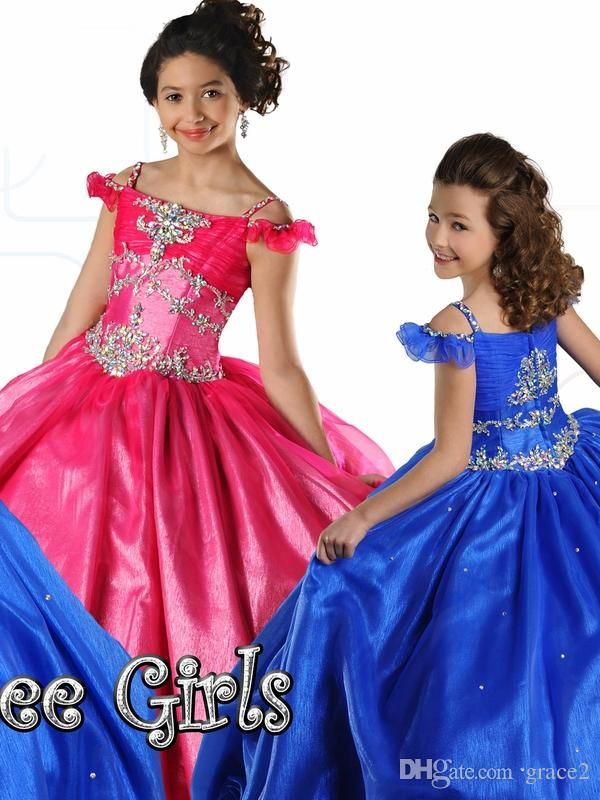 Ritzee Girls Pageant Dresses 2017 7027 Style with Off Shoulder And Zipper Back Long Toddler Pageant Gowns with Shimmer Crystals Details Ritzee Girls Pageant Dresses Little Girls Pageant Dresses Junior Pageant Dresses Online with $147.09/Piece on Grace2's Store | DHgate.com