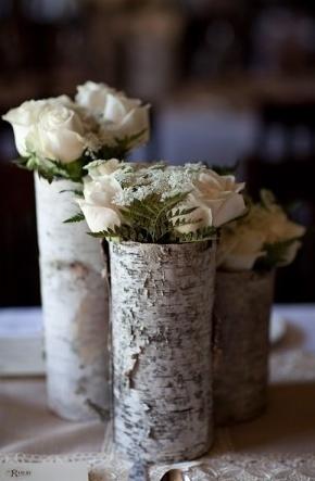 Pretty Rustic Wedding Centrepiece.