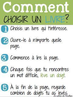 How to choose the right book: comment choisir un livre?