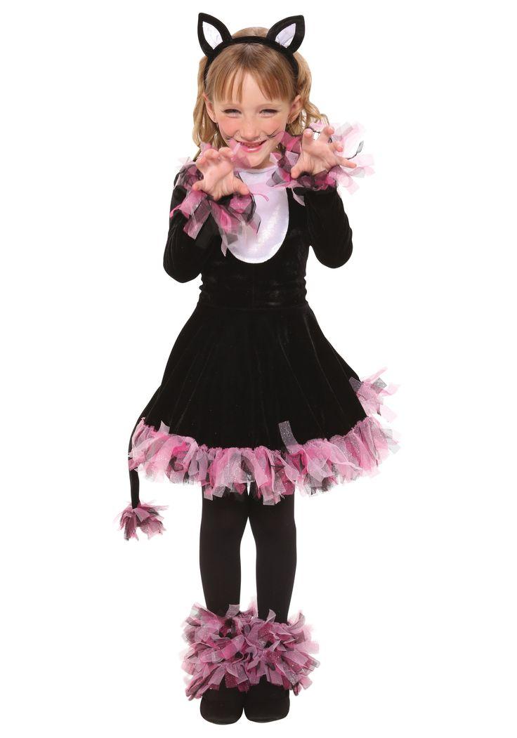 girl cat halloween costumes | Girls Black Cat Costume