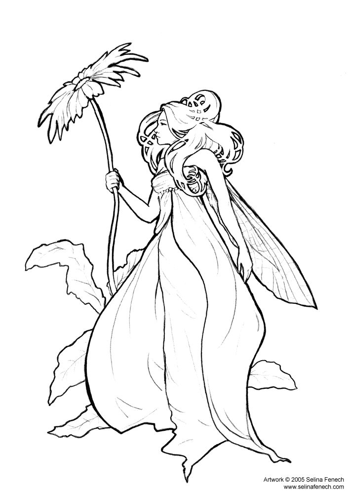 155 best Faerie Coloring Pages images on Pinterest   Coloring ...