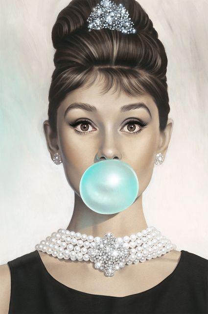 Michael Moebius, 'Audrey Hepburn, Tiffany Blue,' 2015, Maddox Gallery