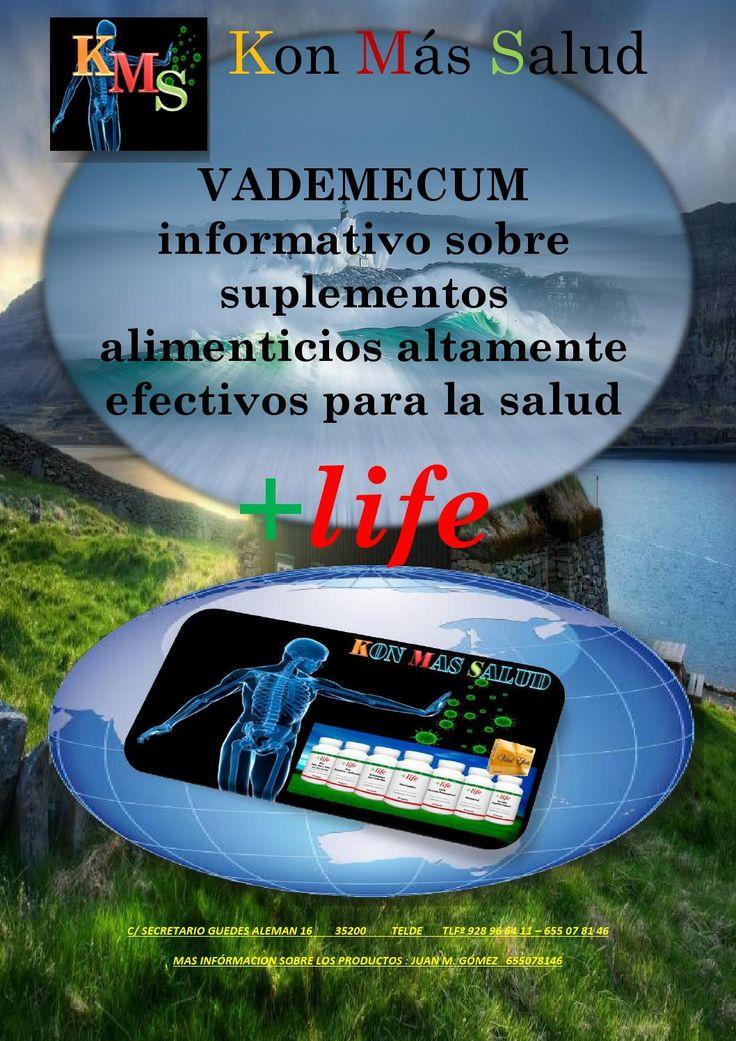 Kon mas salud - VADEMECUM - +life  Información completa sobre los productos de  la firma +life .Estudio doble ciego incluido.
