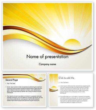 Rising sun powerpoint template powerpoint templates pinterest ppt template and for Poweredtemplate