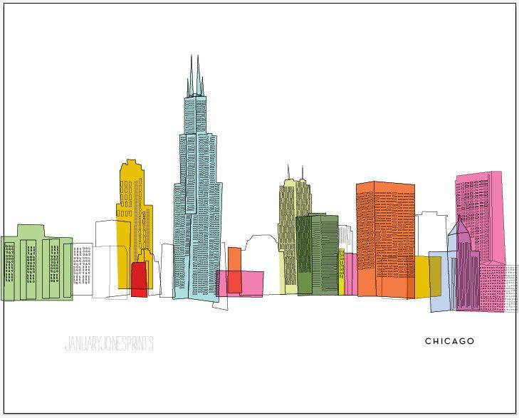 chicago skyline art - photo #10