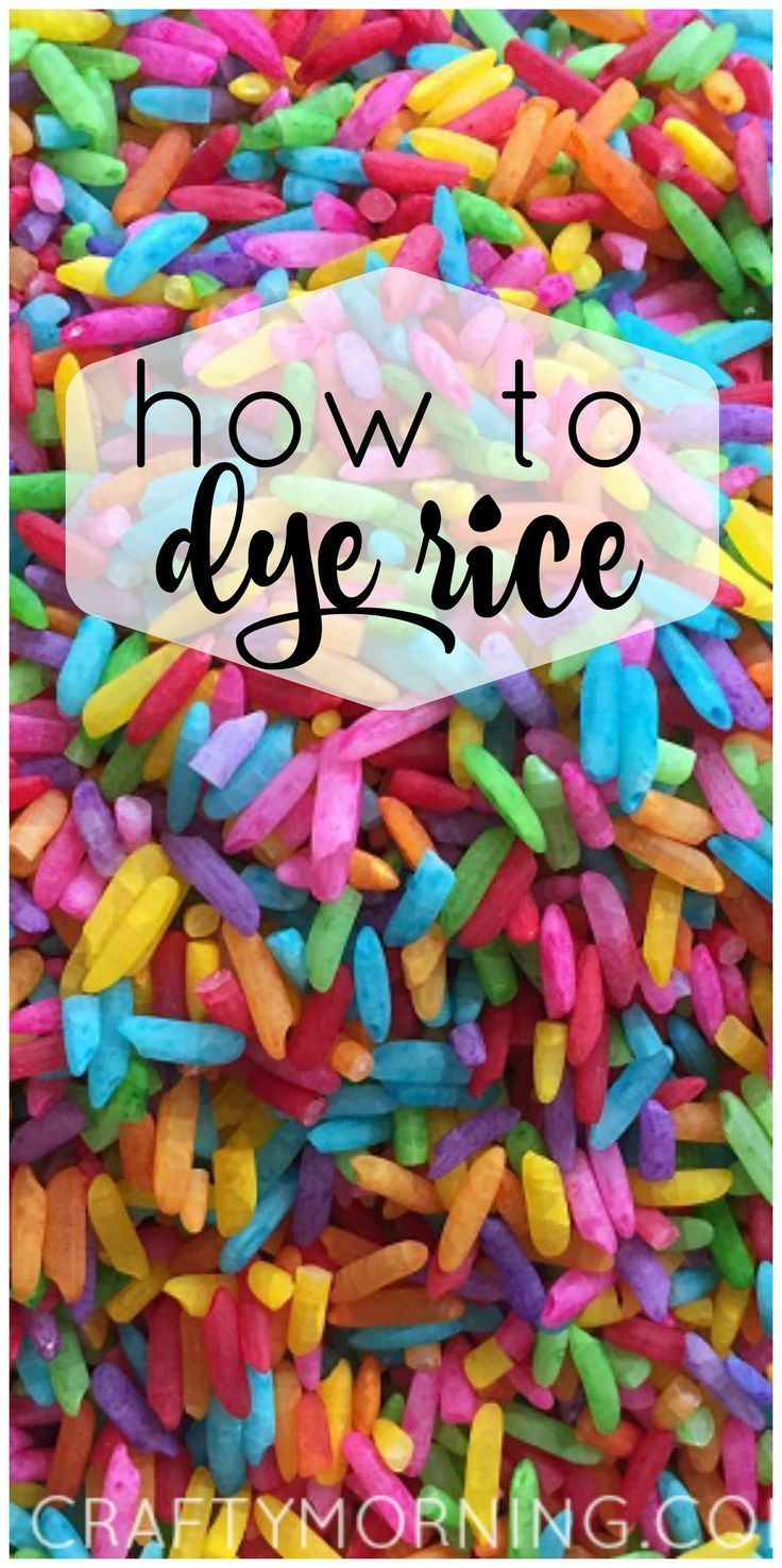 How to dye/color vibrant rice for kids sensory bins! Easy recipe to make!