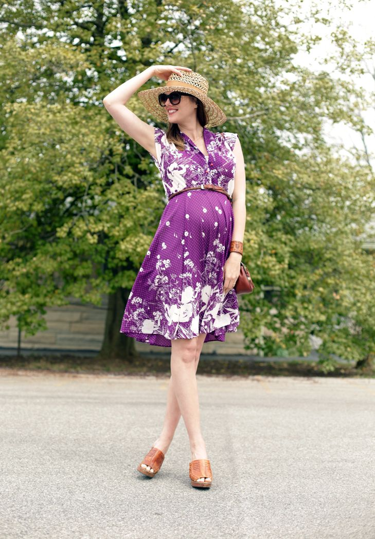 Me Myself & I, Purple Spring Dress, Pregnancy Style, Maternity Style, @Jessica Quirk | What I Wore