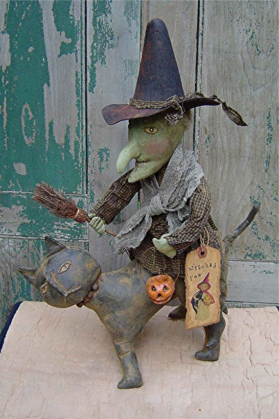 The Country Cupboard Primitive Witch Doll
