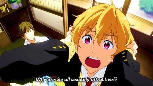 LOL!!! :D Calm down Nagisa, it's for the good of all the fangirls... ;) #free!
