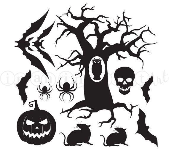 halloween vinyl decals for your walls or windows halloween decal set