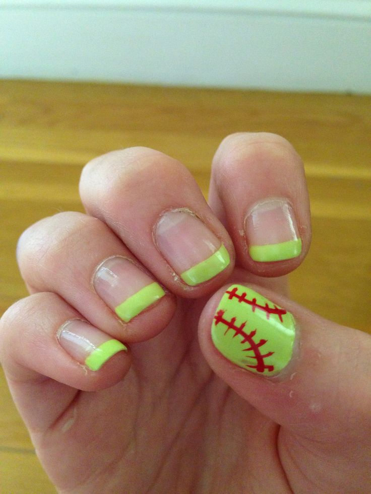 Softball nails! - Best 25+ Softball Nails Ideas On Pinterest Baseball Nail Designs