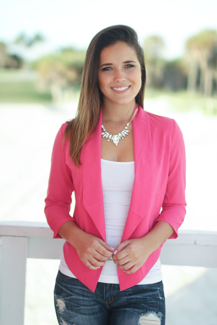 Our Hot Pink Blazer is a must have! Its awesome color gives your outfit the perfect pop of color. The professional look can be dressed up or dressed down. Pair this with tops or bottoms from our onlin