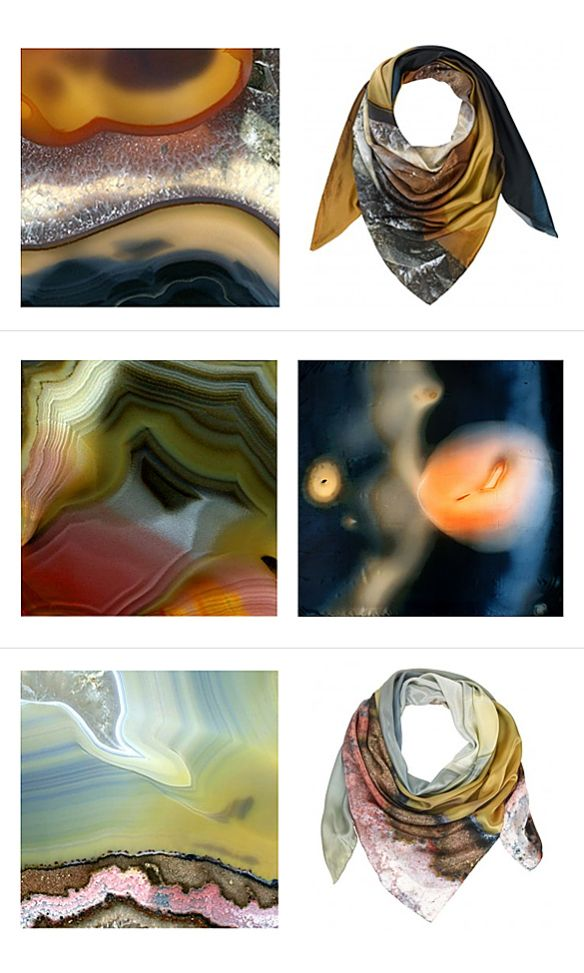 Agate Silk Scarves by Richard Weston  Bottom one please :)