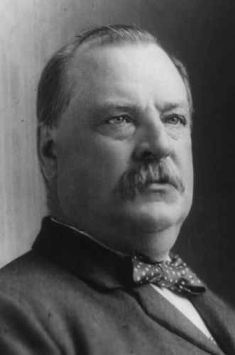 22nd and 24th President of the US - Grover Cleveland (by serving 2 terms 1885-1889 & 1893-1897). Note: President Harrison was between the 2 terms.