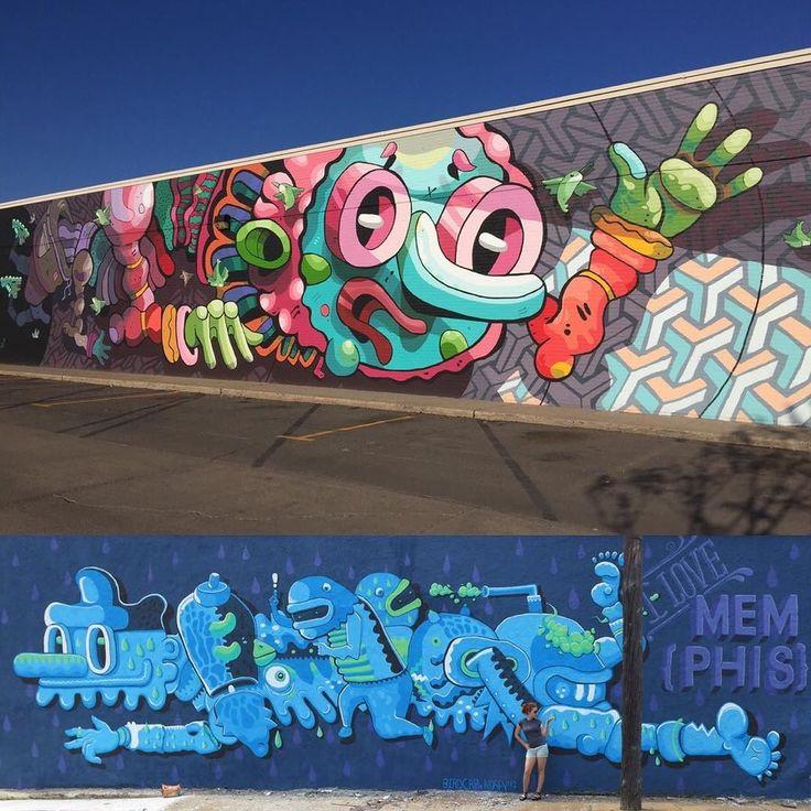 Rad work by @birdcap in Memphis USA - http://globalstreetart.com/birdcap  #globalstreetart