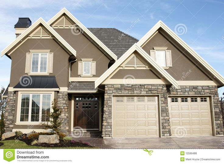 Exterior Stucco Color Gallery | New Home House Stucco Royalty Free Stock Photos - Image: 12599488
