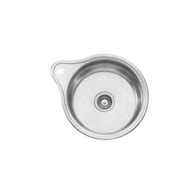 Solitaire Single Round Bowl with Tap Hole