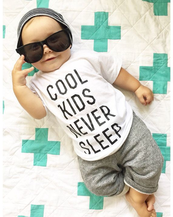 Cool Kids Never Sleep! Hipster in Training: Baby / Toddler Tshirt / Kids Birthday Gift, Baby Shower, First Birthday Unisex Tee shirt