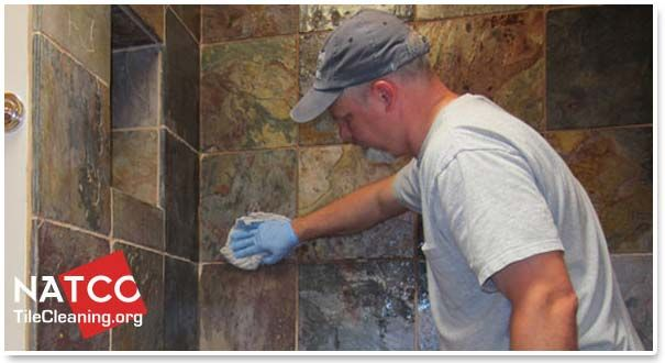 how to seal a slate shower