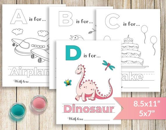 Printable Abc Coloring Book Baby Shower Alphabet Book Baby Etsy Baby Shower Book Abc Coloring Baby Shower Activities