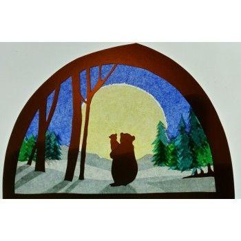 Transparant, grote beer en kleine beer