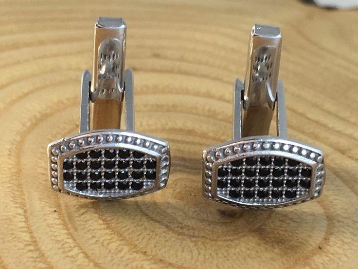 Turkish Handmade 925K Sterling Silver Black Onyx Men's Cufflinks | eBay
