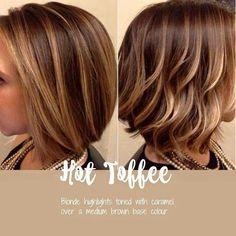 Hot toffee. Darker blonde with warmer highlights