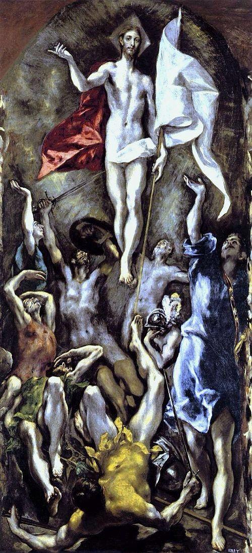 La resurrección de Cristo  El Greco 1598