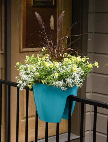 Railing Planters: Self-Watering Saddle Planter | Gardeners.com