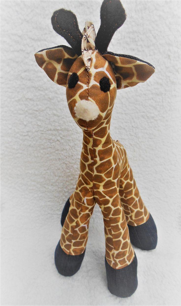 The giraffe created in traditional giraffe print fabric have been popular.