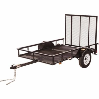 Carry on trailer tractor supply company 5 ft x 8 ft for Wood floor utility trailer