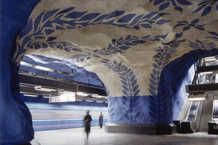 art in the subway of Stockholm