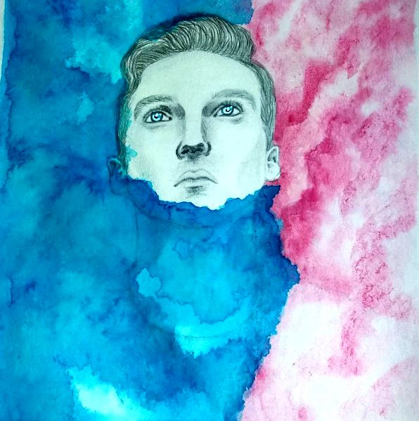 More on IG: @maggie_creates_  Witt Lowry watercolor painting