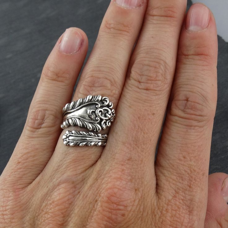 Victorian Spoon Ring in 925 Sterling Silver | FashionJunkie4Life.com