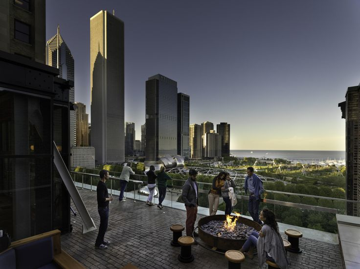 Cindys, rooftop bar/terrace, across from millennium park Brunch/dinner