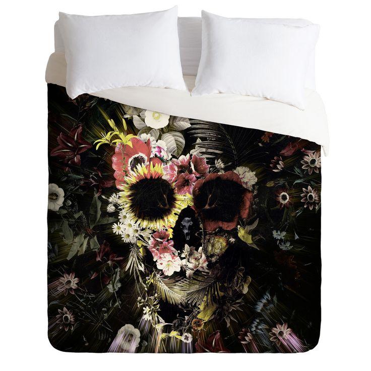 Ali Gulec Garden Skull Duvet Cover | DENY Designs Home Accessories