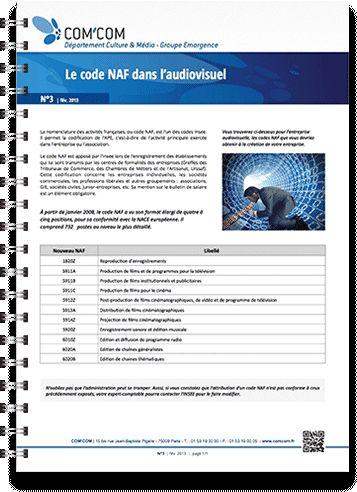 Le code NAF dans l'audiovisuel