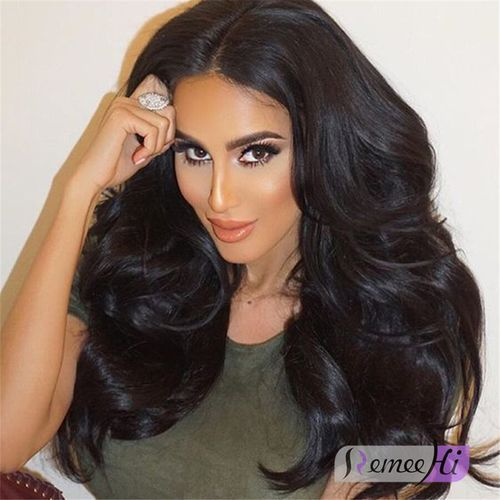 """Remeehi Wave Full Lace Wig Indian remy hair With Baby Hair 8""""-24"""" 100% Human Hair Wigs"""
