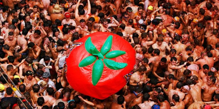 Latest Updates of La Tomatina-Spains Tomato Throwing Festival Pictures, La Tomatina, Festival, Alison Parker, James Placido, Aaliyah, Kokorin, Colin Fry, Greg Rutherford