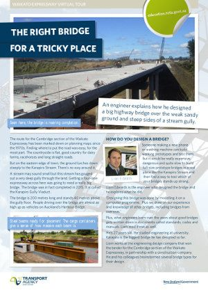 Page 1 of The Right Bridge for a Tricky Place