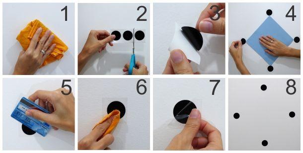 como aplicar adesivos de parede