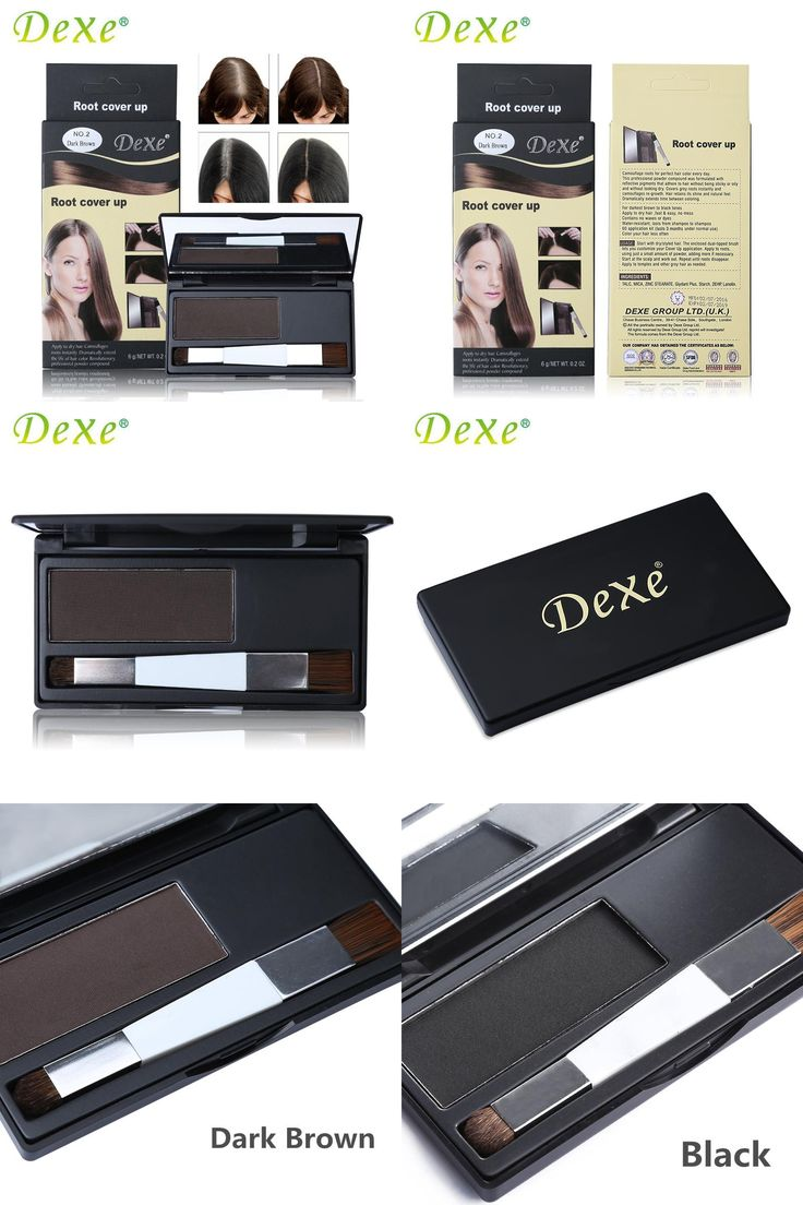 [Visit to Buy] DEXE Brand Hair Coloring Products Cover Gray Root Cover Up Powder Black Hair Color Brush Dye Temporary Hair Dye Coloring Cream #Advertisement